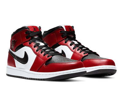 Nike New Air Jordan 1 Retro Mid Chicago Black Toe GSMen Sizes 4Y-13 Authentic