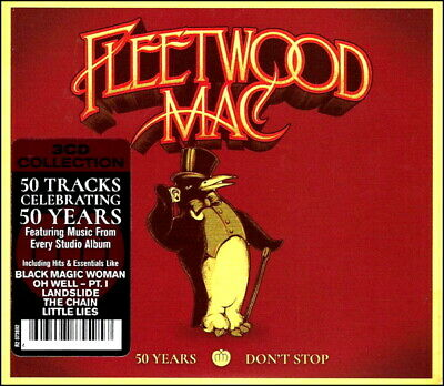 FLEETWOOD MAC  50 Greatest Hits  NEW 3-CD Boxset  ALL Original Songs  NEW