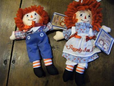 Raggedy Ann and Andy Doll 8 Hasbro By Aurora Soft Plush NWT-  Great deal
