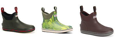 NEW XTRATUF MEN 6 ANKLE DECK BOOTS FISHING REALTREE GREEN MAROON WATERPROOF