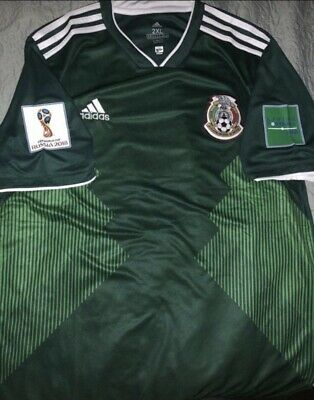 Mexico Jersey 2018 Green World Cup Patches 3XL