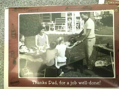 Papyrus Fathers Day Card - thanks for a job well done - barbecue talk Grilling