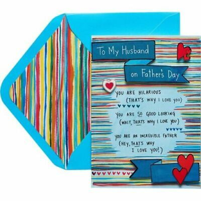 Papyrus Fathers Day card - Husband - You are Hilarious good-looking A- Father