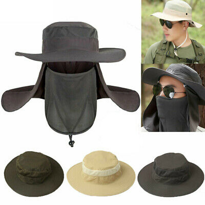 Hot Hiking Fishing Hat Outdoor Sport Sun Protection Neck Face Flap Cap Wide Brim