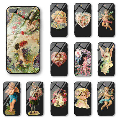 Cute Angel Tempered Glass Phone Covers For iPhone 11 X XS XR Max Case Skins New