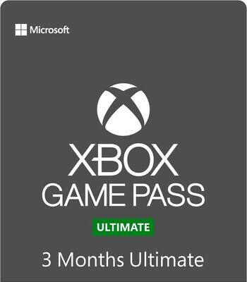 Xbox Game Pass Ultimate 3 Month Gold Membership Quick Delivery Single Code