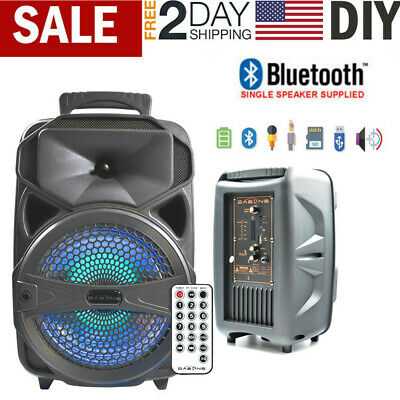 8 1000W Portable FM Bluetooth Speaker Subwoofer Heavy Bass Sound System Party