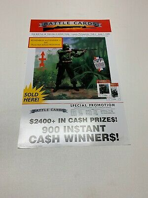 Battle Cards 4 WINDOW PULL TAB TICKETS 3600 Count  1