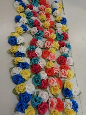 40 BUNCHES of 3 each  VINTAGE   FLOWER  MILLINERY   FLOWERS