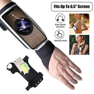 Running Armband Phone Holder Jogging Gym Wrist Band Bag Cover For iPhone Samsung