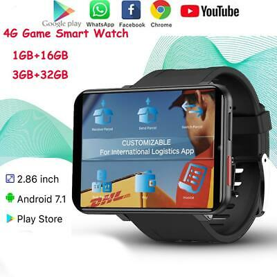 DM100 Smart Watch Android 7.1 3G RAM 32G ROM 4G Smartphone Camera Heart Rate Men