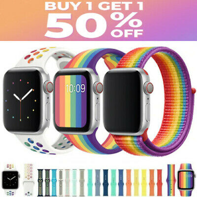 Silicone Band Strap for Apple Watch Series SE1234567 Sports 38404244MM