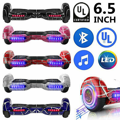 6-5 Electric Hoverboard Bluetooth Speaker LED Self Balancing Scooter UL NO Bag