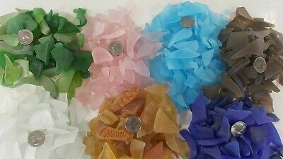 Artisanal Cultured Artist Quality Sea Glass 9 Colors 1 lb- Bags Discounted Ship