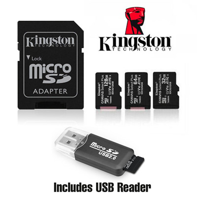 Kingston Micro SD Memory Card 16GB 32GB 64GB 128GB TF Class 10 - USB Reader
