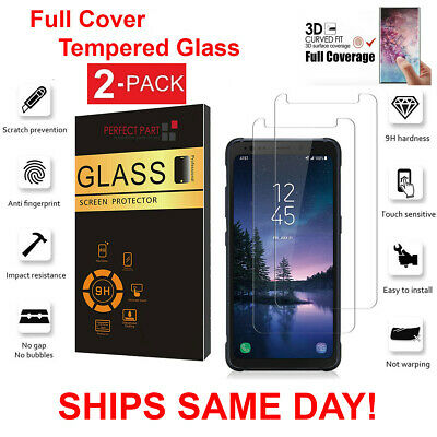 2 Pack Samsung Galaxy S8 Active Screen Protector Tempered Glass Protector Clear