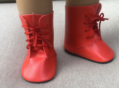 Red Lace Up Boot For 18 Dolls- Fits American Girl Doll- New