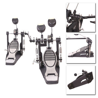 Double Bass Drum Pedal Double Chain Drive Music Kick Foot Percussion Adjustable