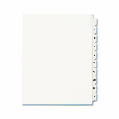 Avery Allstate-Style Legal Exhibit Side Tab Dividers 10-Tab I-X Letter White