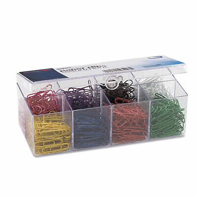 Officemate Plastic Coated Paper Clips No- 2 Size Assorted Colors 800Pack 97228