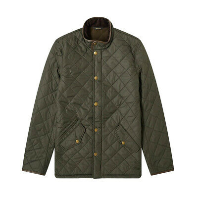 BARBOUR MENS POWELL JACKET IN NEW GREEN  BNWT  RRP £160  SALE