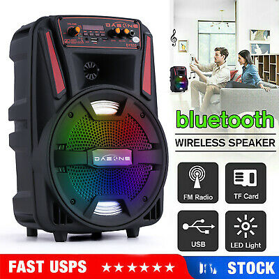 8 Portable Party Bluetooth Speaker LED USB Rechargeable Stereo Wireless 1000W