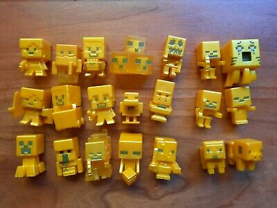 21 Minecraft Gold Mini-Figures Choose Which One You Want Great Condition