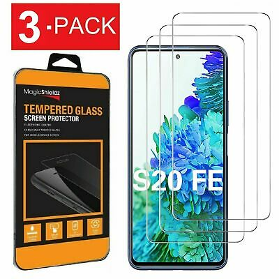 3-Pack Premium Tempered Glass Screen Protector for Samsung Galaxy S20 FE 5G