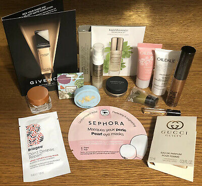 Mixed Makeup Skincare Sample Lot Givenchy Bare Minerals Sephora Gucci