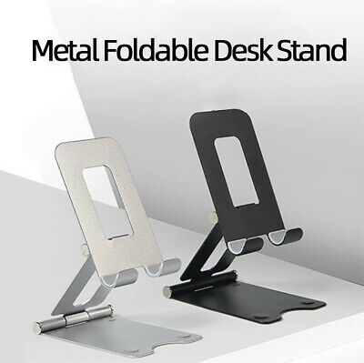 Cell Phone Foldable Desk Stand Holder Mount Cradle Dock iPhone Samsung LG Switch