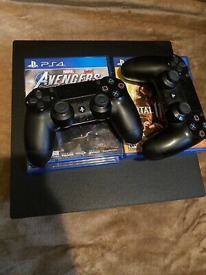 Sony PlayStation 4 Pro 1TB Console PS4 Pro 2 Controllers - 4 Games Marevl GTA