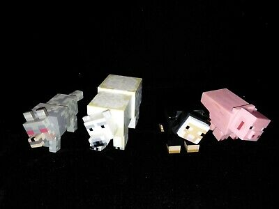 Minecraft toys action figures lot Polar Bear Black Sheep Pig Wolf