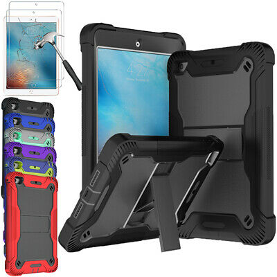 For iPad 234 iPad Mini 4 5 Hybrid Heavy Duty Protective Tablet Case With Stand