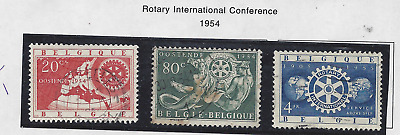 Belgium lot of 3 used stamps from 1954 Rotary International Conference