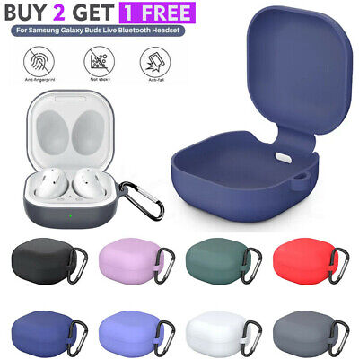 For Samsung Galaxy Buds Live  Live Pro Case Silicone Protective Cover -Keychain