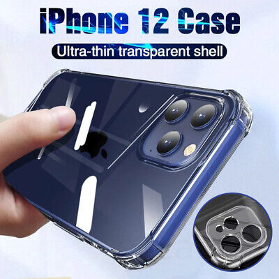 For Apple iPhone 12 Pro Max Mini Shockproof Clear Case Camera Lens Full Cover