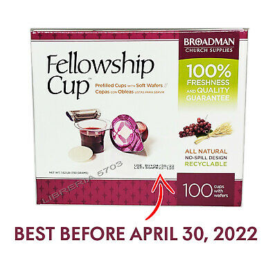 FELLOWSHIP CUP PREFILLED COMMUNION CUPS BOX OF 100 (JUICE AND WAFER)