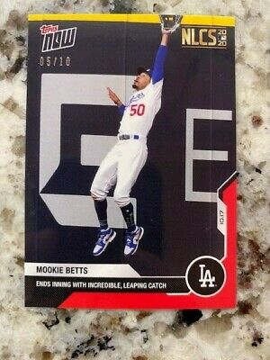 2020 TOPPS NOW RED PARALLEL NLCS CARD 0510 LOS ANGELES DODGERS MOOKIE BETTS 431