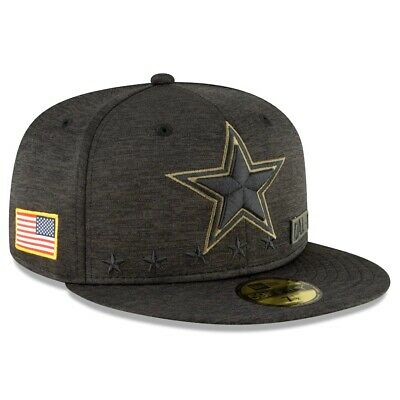 Dallas Cowboys New Era 2020 Salute to Service On-Field 59FIFTY Fitted Hat