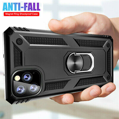 For iPhone 12 Pro Max XR XS SE 2020 8 7 6 Plus Case Shockproof Armor Ring Cover