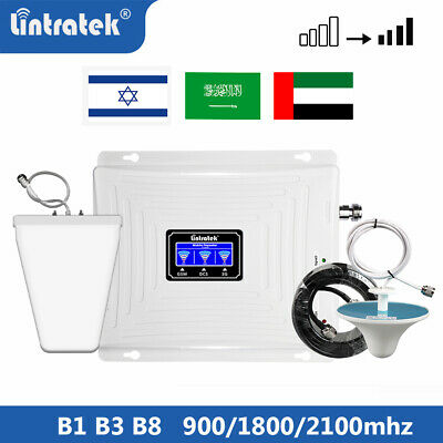 Lintratek 900 1800 2100 Signal Booster Repeater Amplifier Network for