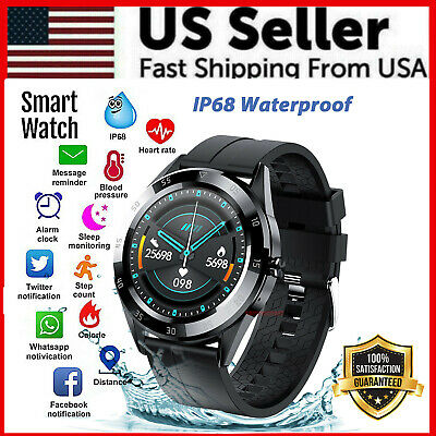 Waterproof Bluetooth Smart Watch Phone Mate Heart Rate Tracker For iOS Android