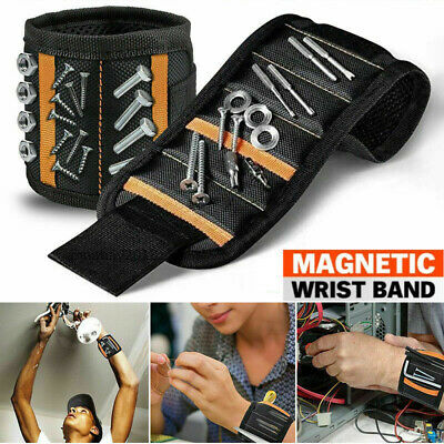 Magnetic Wristband Strong Magnets For Holding Wrench Screw Nail Bit DIY Handyman