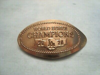 LOS ANGELES DODGERS World Series Champions 2020 -- elongated copper penny