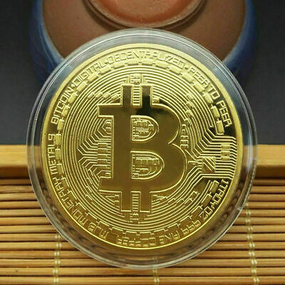 1Pcs Gold Bitcoin Coins Commemorative 2020 New Collectors Gold Plated Bit Coin