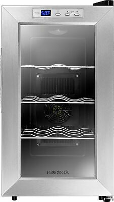 Insignia- 8-Bottle Wine Cooler - Stainless steel