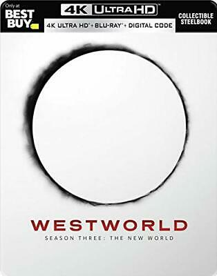 NEW Westworld The Complete Third Season SteelBook 4K Ultra HD Blu-ray