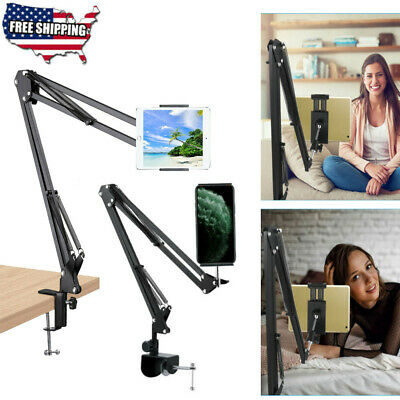 Universal Foldable Tablet Phone iPad Stand Flexible Desk Bed Lazy Holder Mount C