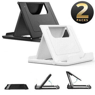 2-Pack NEW Phone Holder Foldable Desk Stand Multi-Angle Mount For iPhone Samsung