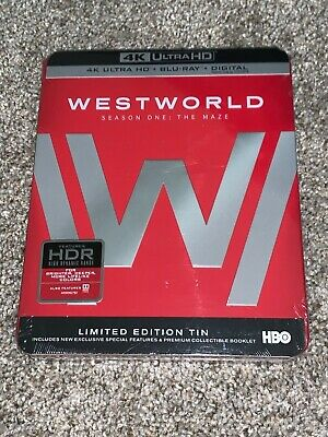 Westworld Season 1 Steelbook 4K HDR - Blu-Ray - Digital Code FACTORY SEALED